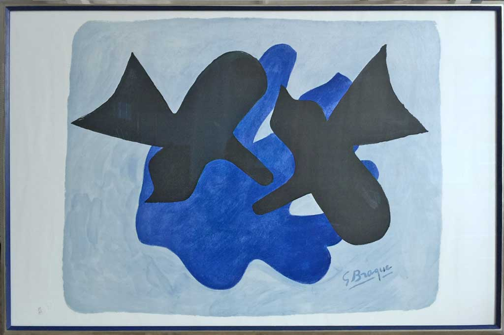 or blanc filet bleu pierre (œuvre de Georges Braque)